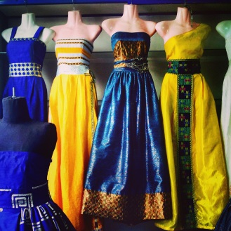 Couture at Alem Tsehai's Fashion in downtown Asmara, Eritrea on September 7, 2014.